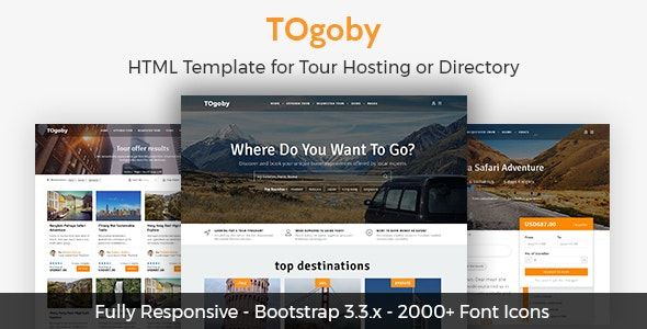 Togoby - Responsive HTML for Tour Hosting - Travel Retail