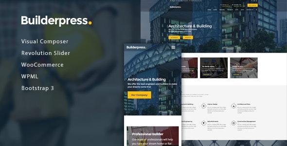 BuilderPress - Building Construction WordPress Theme - Business Corporate
