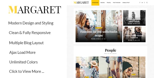 Margaret - WordPress Magazine and Blog Theme