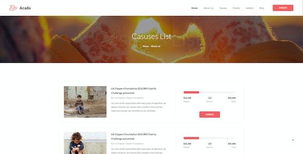 Acada Charity Theme | Charity & Non-Profit Organizations