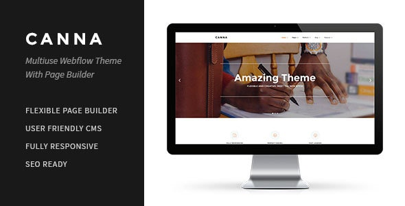Canna | Multiuse Webflow Template With Page Builder - Webflow CMS Themes