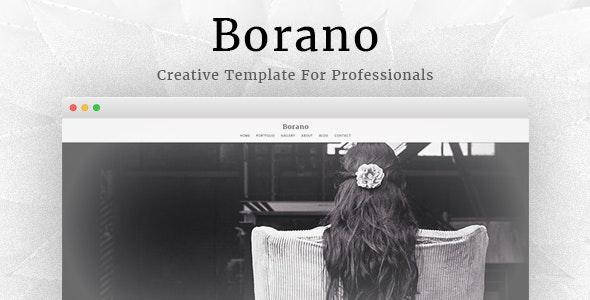 Borano - Photography / Portfolio WordPress Theme - Photography Creative