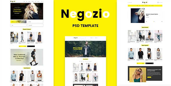 Negozio - Multi-purpose eCommerce PSD Temlate - Retail Photoshop