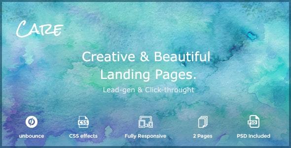 Care - Non-profit & Creative unbounce Landing Page - Unbounce Landing Pages Marketing