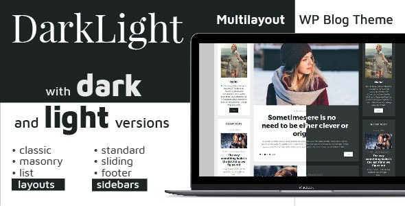 Darklight. Multilayout Personal WordPress Blog Theme - Blog / Magazine WordPress