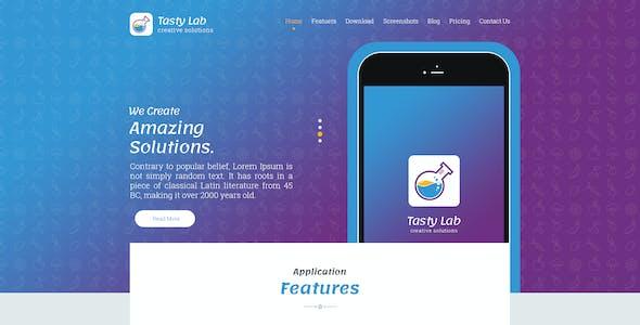 TastyLab Mobile Application Landing Page