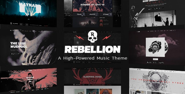 Rebellion - Theme for Music Bands & Record Labels - Music and Bands Entertainment