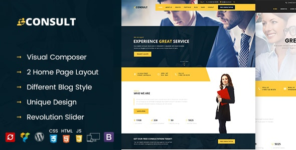Consult - Consultant Business WordPress Theme - Business Corporate