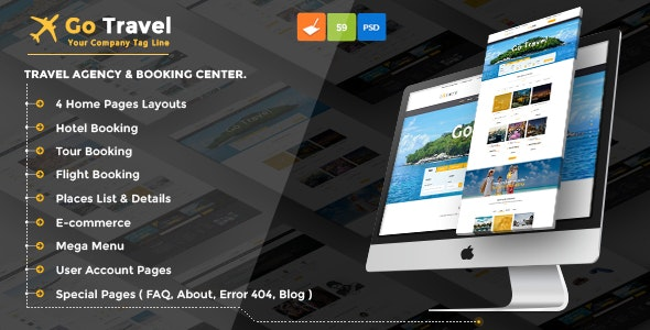 Travel PSD Template - Travel Retail