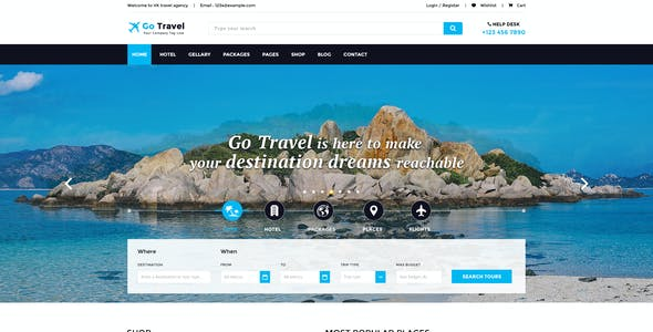 Travel PSD Template
