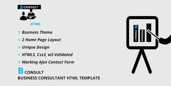 B CONSULT - Business Consultant HTML Template - Corporate Site Templates