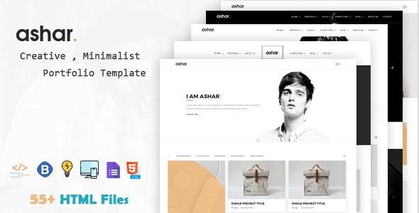 Ashar - Creative Minimal Portfolio Template - Portfolio Creative