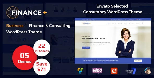 Finance + Corporate Business and Consultancy WordPress Theme - Business Corporate