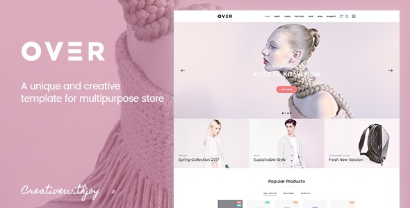 Over - Multi-Purpose eCommerce PSD Template - Retail Photoshop