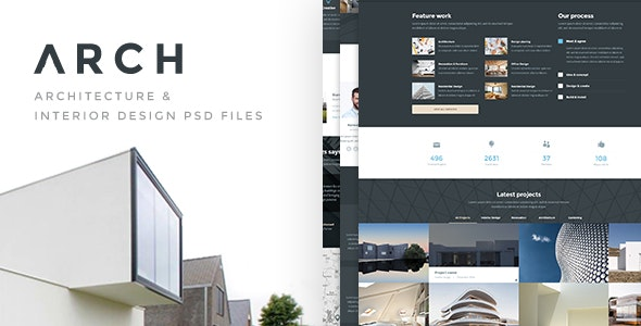 ARCH - Architecture & Interior PSD Template - Business Corporate