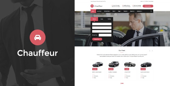 Chauffeur - Limousine, Transport And Car Hire WP Theme - Business Corporate