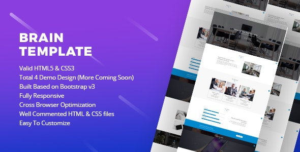 Brain Template | Responsive and Fast Corporate Html5 Template - Corporate Site Templates