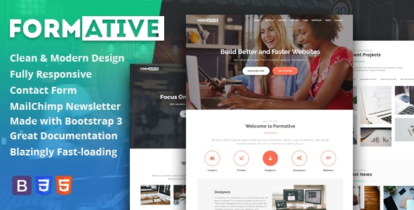 Formative - Creative One Page Parallax Template - Creative Site Templates