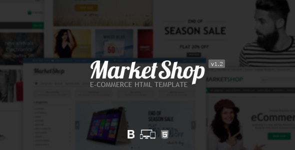MarketShop - eCommerce HTML Template - Shopping Retail