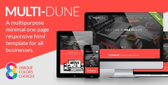 Multi-Dune :: A multipurpose minimal one page responsive html template for all businesses. - Business Corporate