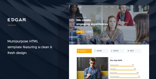 Edgar - Multipurpose HTML Template - Corporate Site Templates