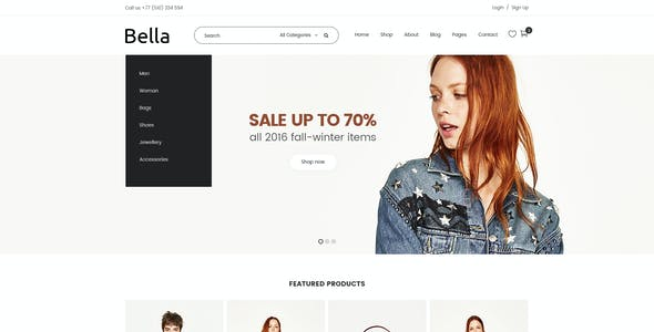 Bella - Multipurpose E-Commerce and Blog PSD Template