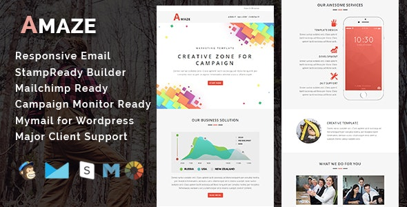 AMAZE - Multipurpose Responsive Email Template - Email Templates Marketing