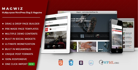 MagWiz - Multipurpose WordPress Magazine & Blogging theme - Blog / Magazine WordPress