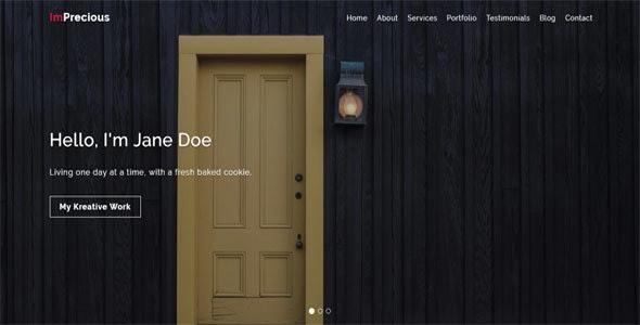 Imprecious - OnePage Responsive Personal Template - Portfolio Creative