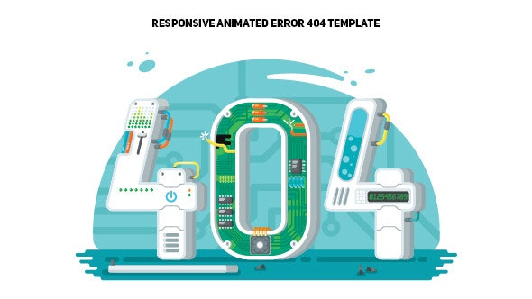 404 Creative Page - Computer System Fail - 404 Pages Specialty Pages
