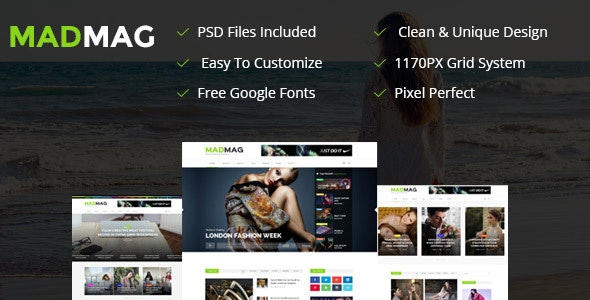 Mad Magazine and Blog Responsive HTML Template - Entertainment Site Templates