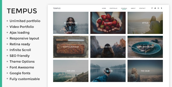 Tempus - Photography WordPress Theme - Photography Creative