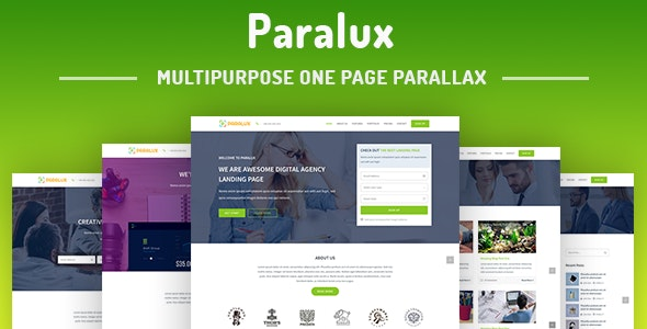 Paralux - One Page Parallax - Corporate Site Templates
