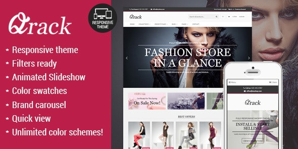 Qrack Responsive BigCommerce Theme - BigCommerce eCommerce