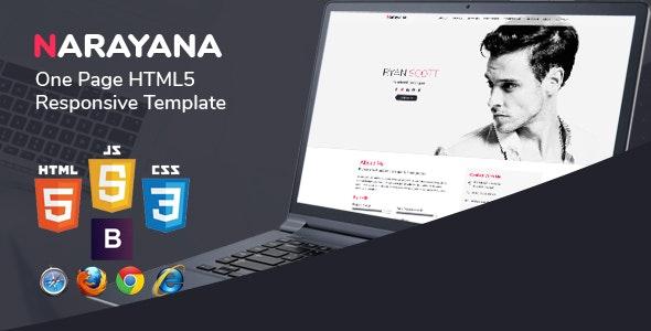 Narayana - One Page HTML5 Responsive Template - Portfolio Creative