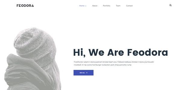 Feodora Creative HTML5 Template - Creative Site Templates