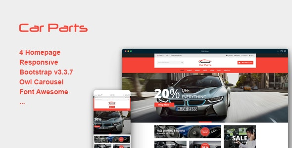 Carparts - Responsive eCommerce Template - Shopping Retail