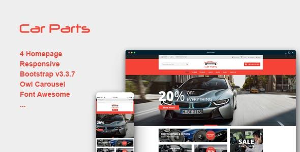 Carparts - Responsive eCommerce Template