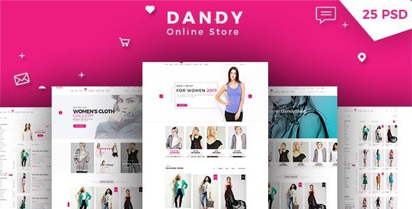 DANDY - Multi-Purpose eCommerce PSD Template - Shopping Retail