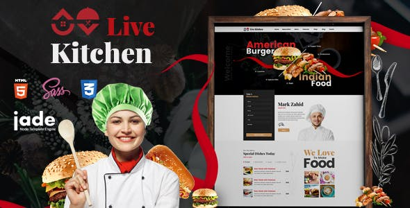 LiveKitchen - HTML5 Restaurant Template by HTMLguru