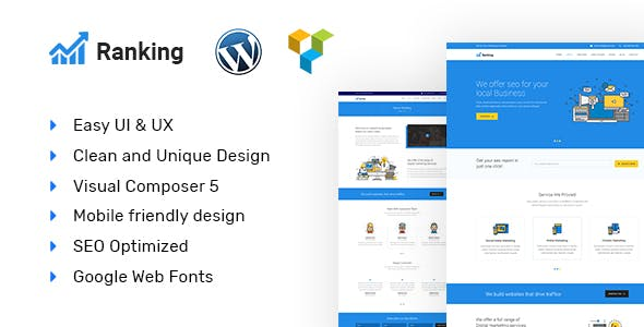Ranking - Marketing & SEO WordPress theme
