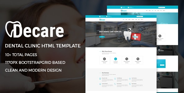 Dental Clinic Medical HTML Template - Decare - Health & Beauty Retail