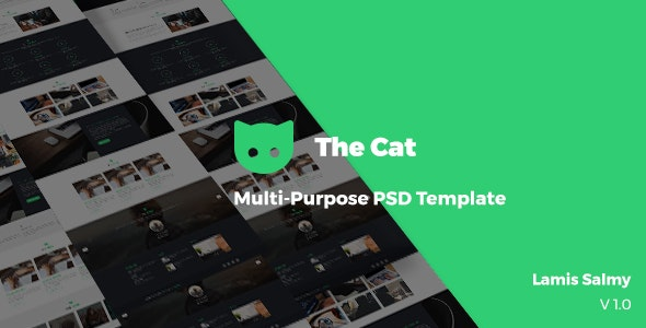 The Cat _ Multi-purpose PSD Template - Photoshop UI Templates