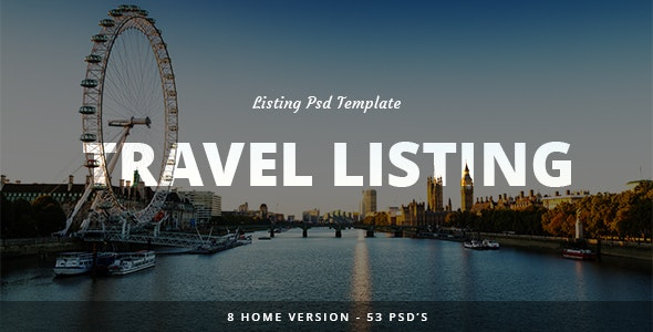 Travel Listing -  PSD Teamplate - Travel Retail