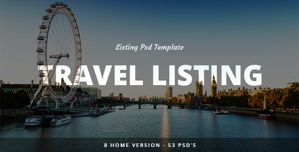 Travel Listing -  PSD Teamplate