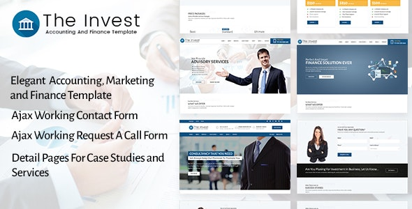 The Invest - Accounting, Finance, Consulting, Business and Marketing Template - Business Corporate
