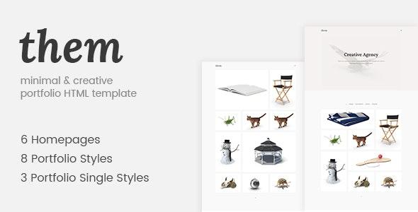 Them - Minimal and Creative Portfolio HTML Template - Portfolio Creative