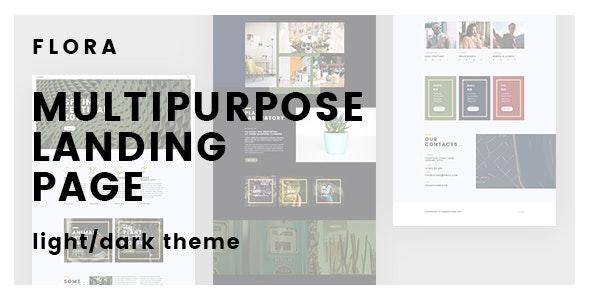 Flora – Creative Multipurpose Landing Page - Landing Pages Marketing