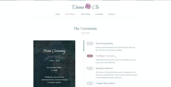 Special Day - Wedding & Ceremony PSD Template