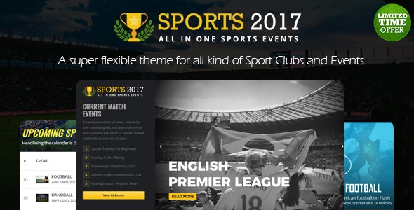 The Real - Sports Club HTML Template - Events Entertainment